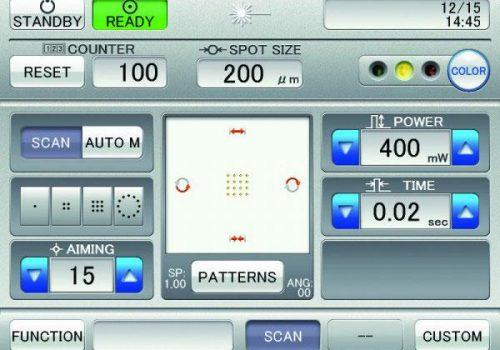 Interface du pupitre de commande en mode Multispot